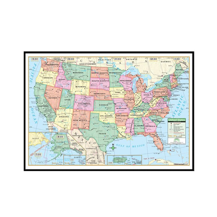 United States Primary Mounted Framed Wall Map on east coast map, great lakes map, nevada map, the us map, florida map, caribbean map, the world map, mississippi map, blank map, us state map, 13 colonies map, arkansas map, africa map, missouri map, europe map, canada map, mexico map, full size us map, tennessee map, texas map,