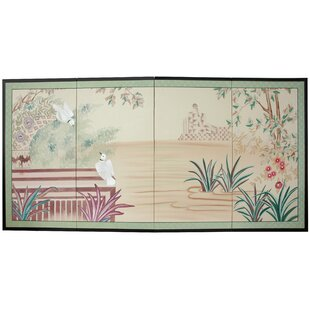 Rousey Lush Garden 4 Panel Room Divider by Bloomsbury Market