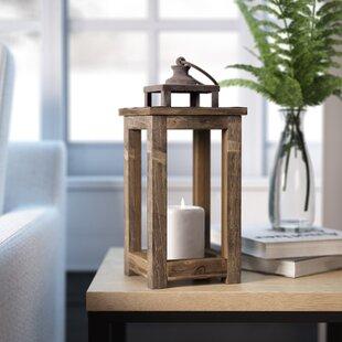 Rustic Pillar Wood Lantern by Laurel Foundry Modern Farmhouse