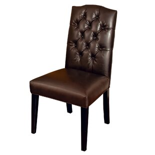 Radley Side Chair in Leather - Brown (Set..