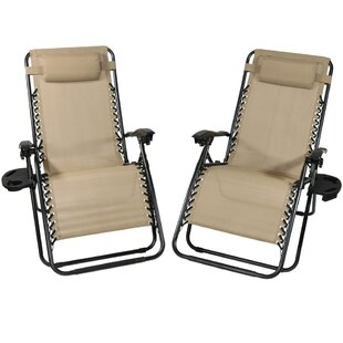 Freeport Park Esperanza Reclining Zero Gravity Chair (Set of 2)