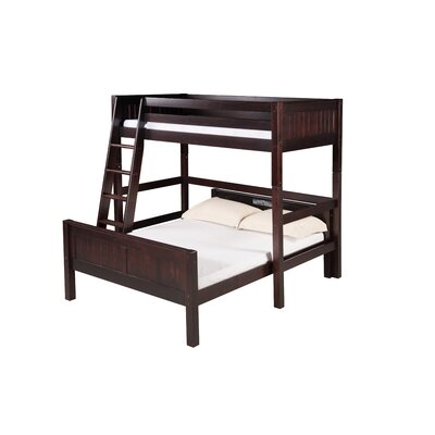 Oakwood Twin over Full L Shape Bunk Bed Harriet Bee Bed Frame Color: Cappuccino