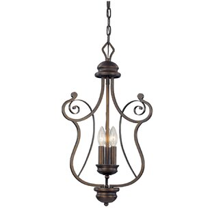 Fleur De Lis Living Samson 3-Light Lantern Chandelier