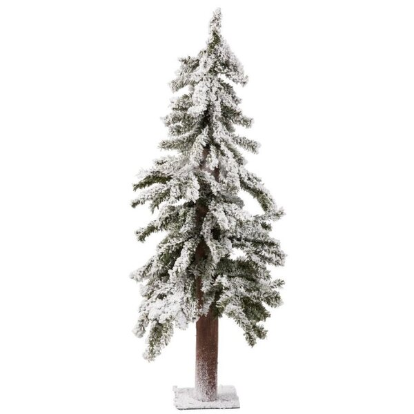 The Holiday Aisle White Artificial Christmas Tree With Metal Plate Stand Reviews Wayfair