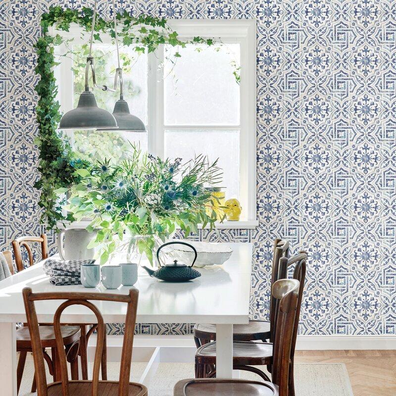 Jovanny Spanish Tile 33 L X 20 5 W Geometric Wallpaper Roll