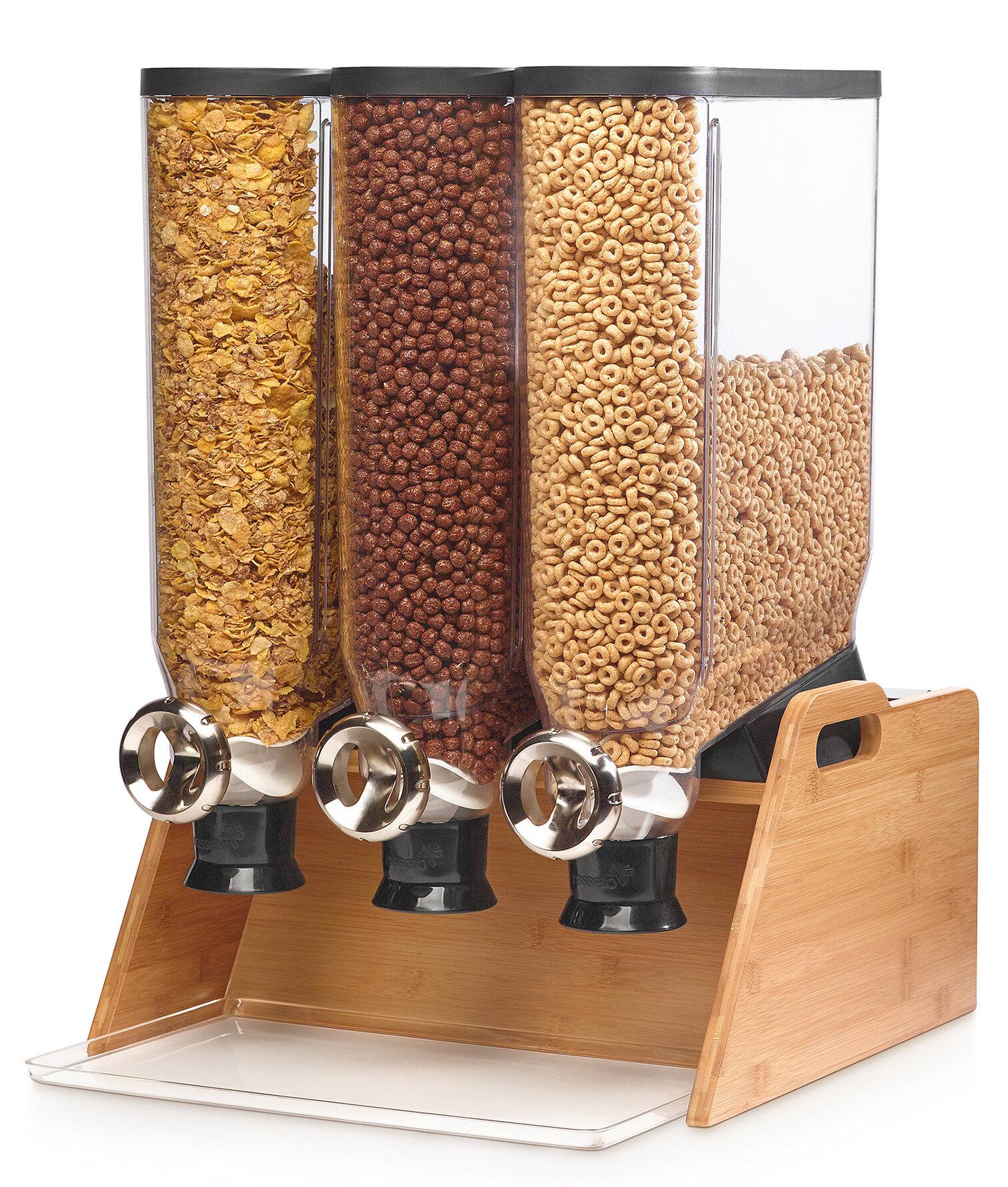 Rosseto Pro Bulk Triple Bamboo Stand Cereal Dispenser Wayfair