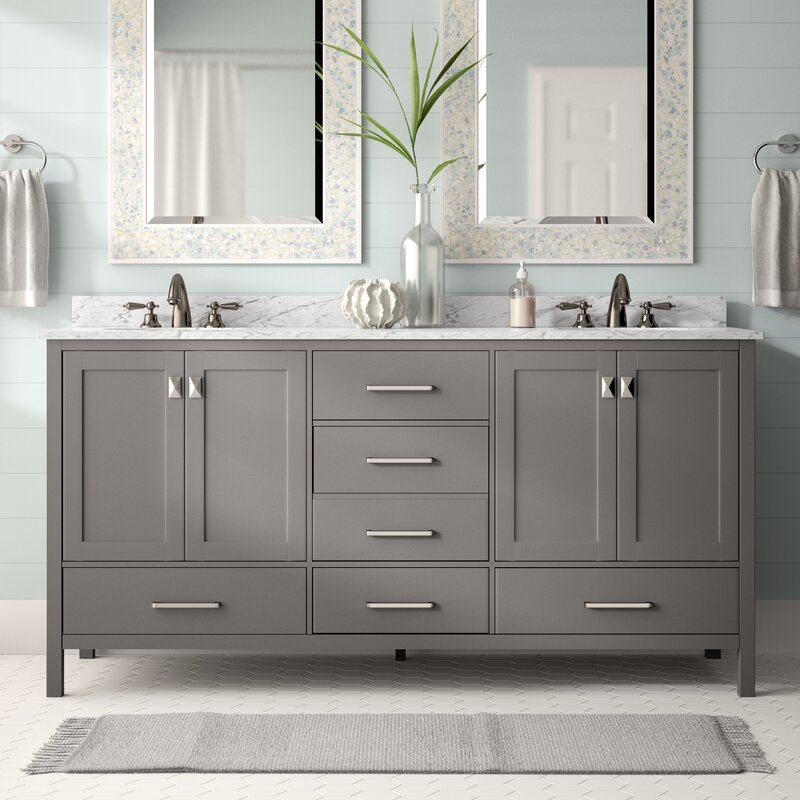 Newtown 72 Double Bathroom Vanity Set