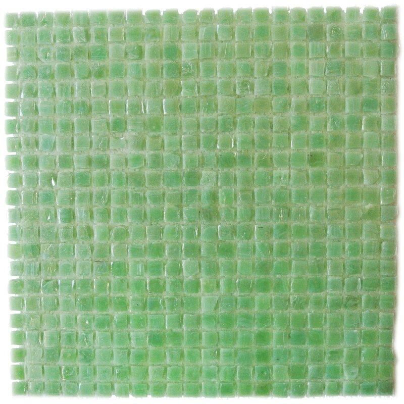 Abolos Green Mini Square 1 In X Recycled Gl Handmade Backsplash Bathroom