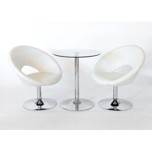 Christin Dining Set With 2 Chairs By Metro Lane