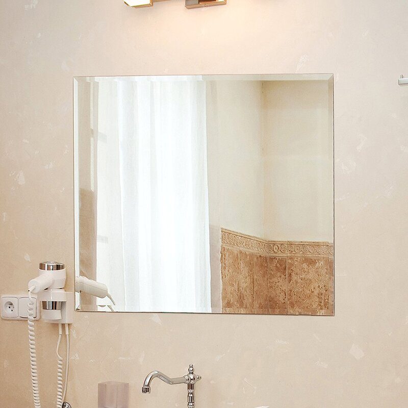 Fab Glass and Mirror Square Beveled Polished Frameless ...