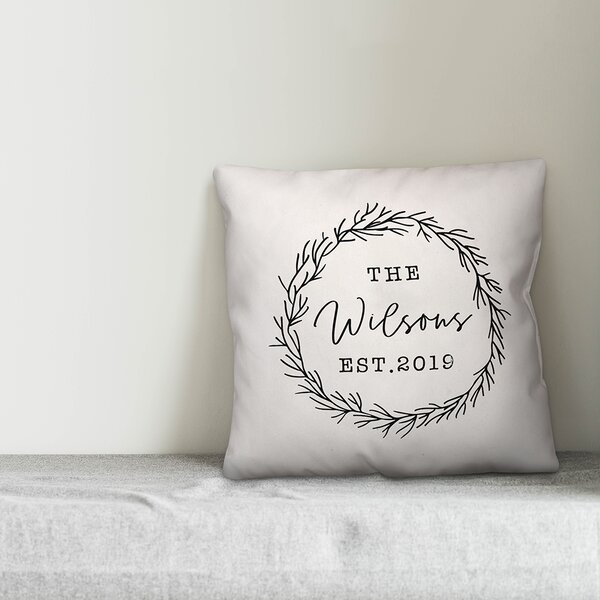 Gracie Oaks Ortis Wreath Throw Pillow Cover Wayfair