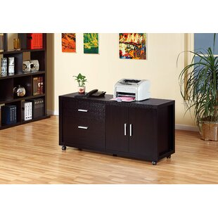 Belkis Wooden 2-Drawer Mobile Lateral Filing Cabinet