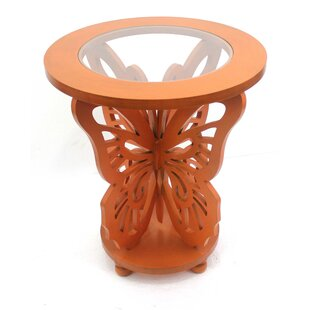 Enfield Wood Butterfly End Table by Bloomsbury Market Best Design