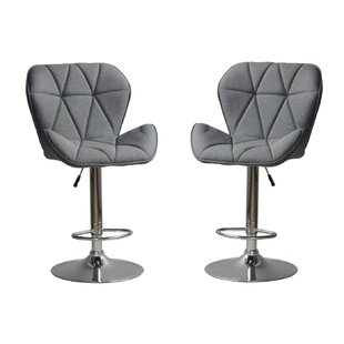 Mancilla Adjustable Height Swivel Bar Stool (Set of 2) Brayden Studio