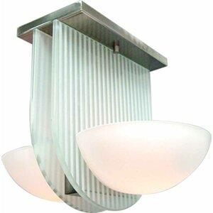 2-Light Ceiling Fixture Flush Mount