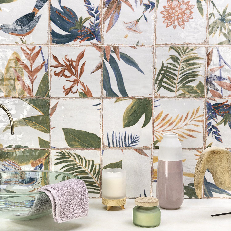 Ivy Hill Tile Angela Harris Harbour Sonata Decor 8 X 8 Ceramic Field Tile Reviews Wayfair