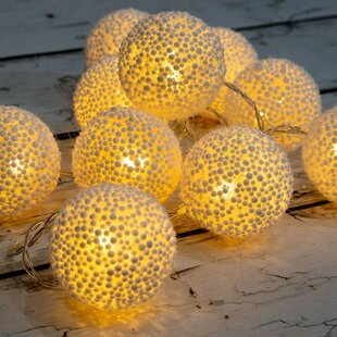 Shopping for Wren 10 LED String Fairy Light with Foam Ball Battery Powered By The Holiday Aisle