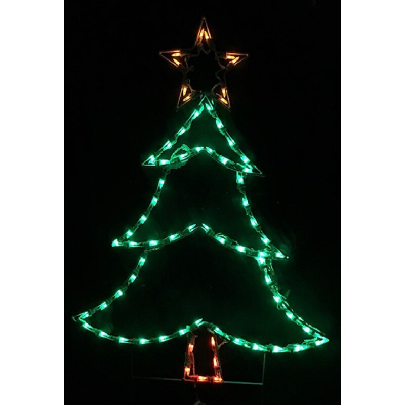 The Holiday Aisle Christmas Tree Rope String Lighting Wayfair