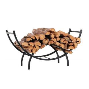 Heavy Duty Curved Indoor/Outdoor Firewood Log Rack By PHI VILLA
