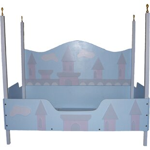 Princess Castle Toddler Canopy Bed