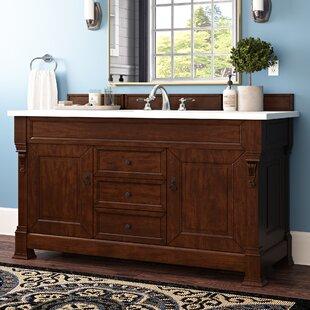 Bedrock 60 Single Antique Black Bathroom Vanity Set by Darby Home Co