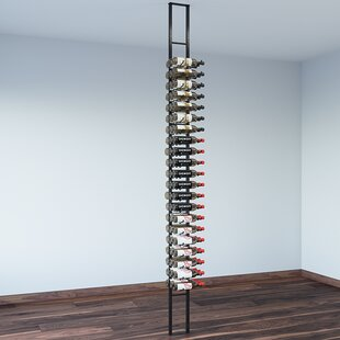 Floating 63 Bottle Wall Mounted Wine Bott..