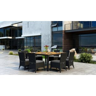 Brayden Studio Aisha 9 Piece Dining Set with Sunbrella Cushion
