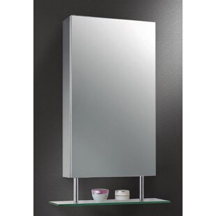 Compare & Buy Mariela Edge Mirror Door 26 x 19 Surface Mount Frameless Medicine Cabinet with 2 Adjustable Shelves By Orren Ellis