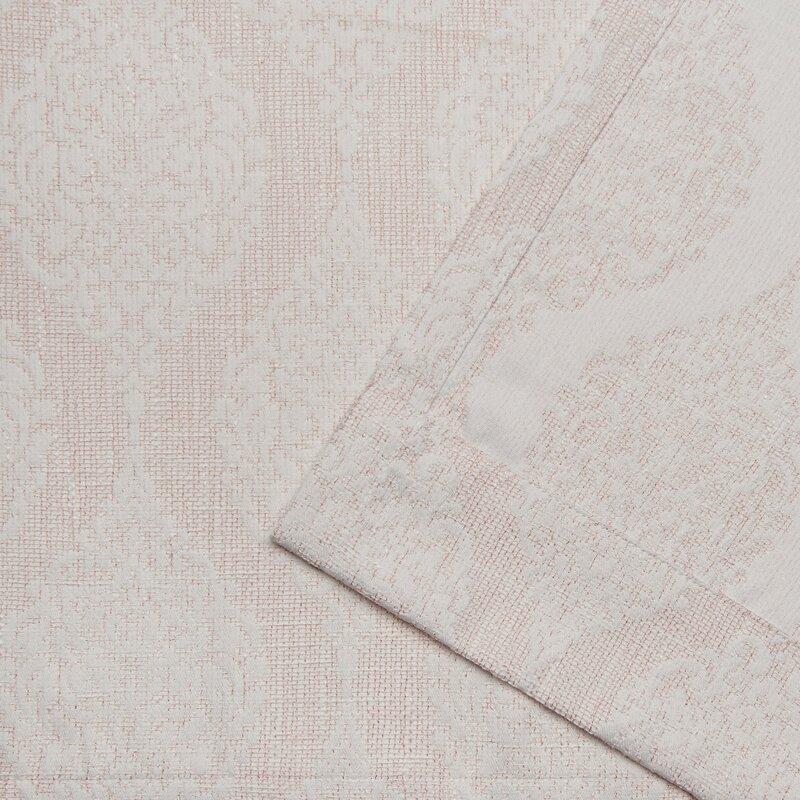 One Allium Way Saoirse Stark Medallion Textured Geometric Sheer Thermal Grommet Curtain Panel Reviews