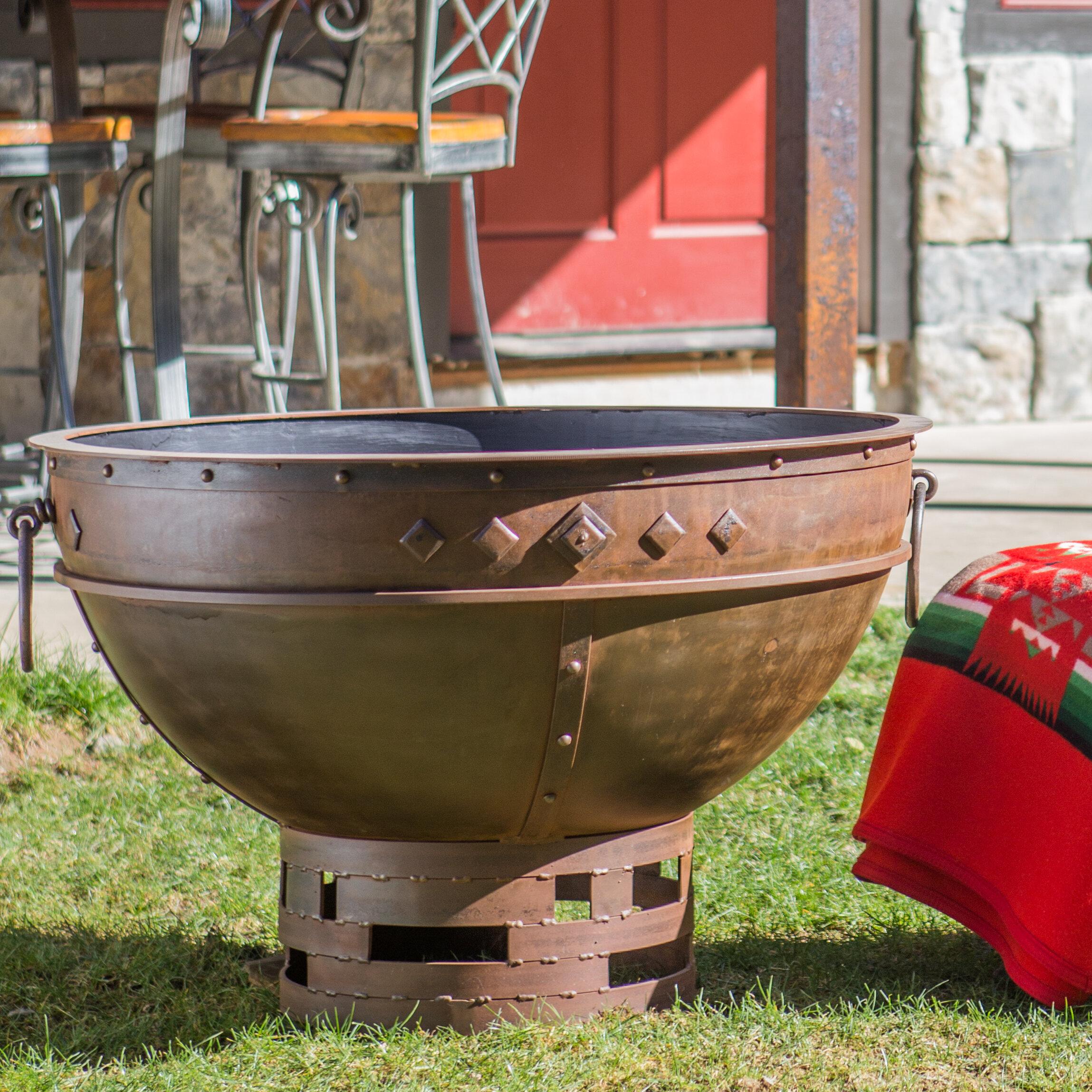 Cedar Creek Sculptures Greek Brazier Steel Fire Pit Wayfair