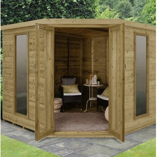 Daum 8 X 8 Ft. Tongue And Groove Corner Summer House By Sol 72 Outdoor