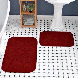 Red Bathroom Rug Set Wayfair