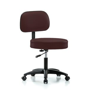 Height Adjustable Exam Stool With Basic Backrest by Perch Chairs & Stools Amazing