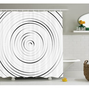 White Modern Decor Pattern Shower Curtain by East Urban Home