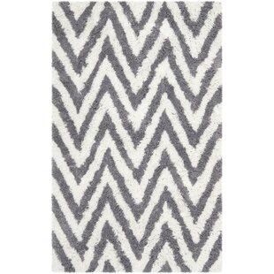 Haupt Gray/White Area Rug byMercury Row
