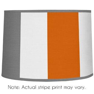 Stripe 10 Brushed Microfiber Drum Lamp Shade