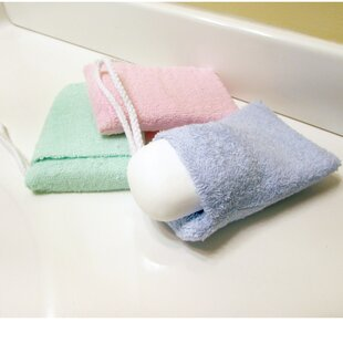 Evelots Soap Saver 3-Piece Cotton Washcloth Set (Set of 3)