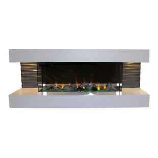 Lorenza Wall Mounted Electric Fireplace by Orren Ellis