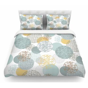 Floating Circles Design by Maike Thoma Featherweight Duvet Cover