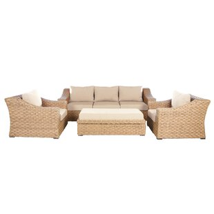 Bay Isle Home St. Johns 6 Piece Sunbrella Sectional Set with Cushions