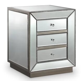 Everly Quinn Lewisville 3 Drawer Nightstand