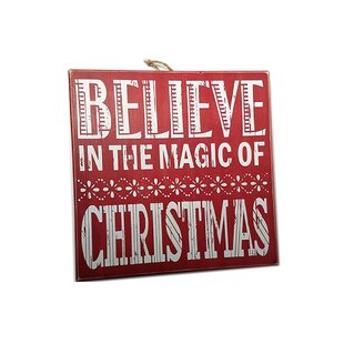 believe in the magic of christmas wood sign wall dcor - Christmas Wooden Signs