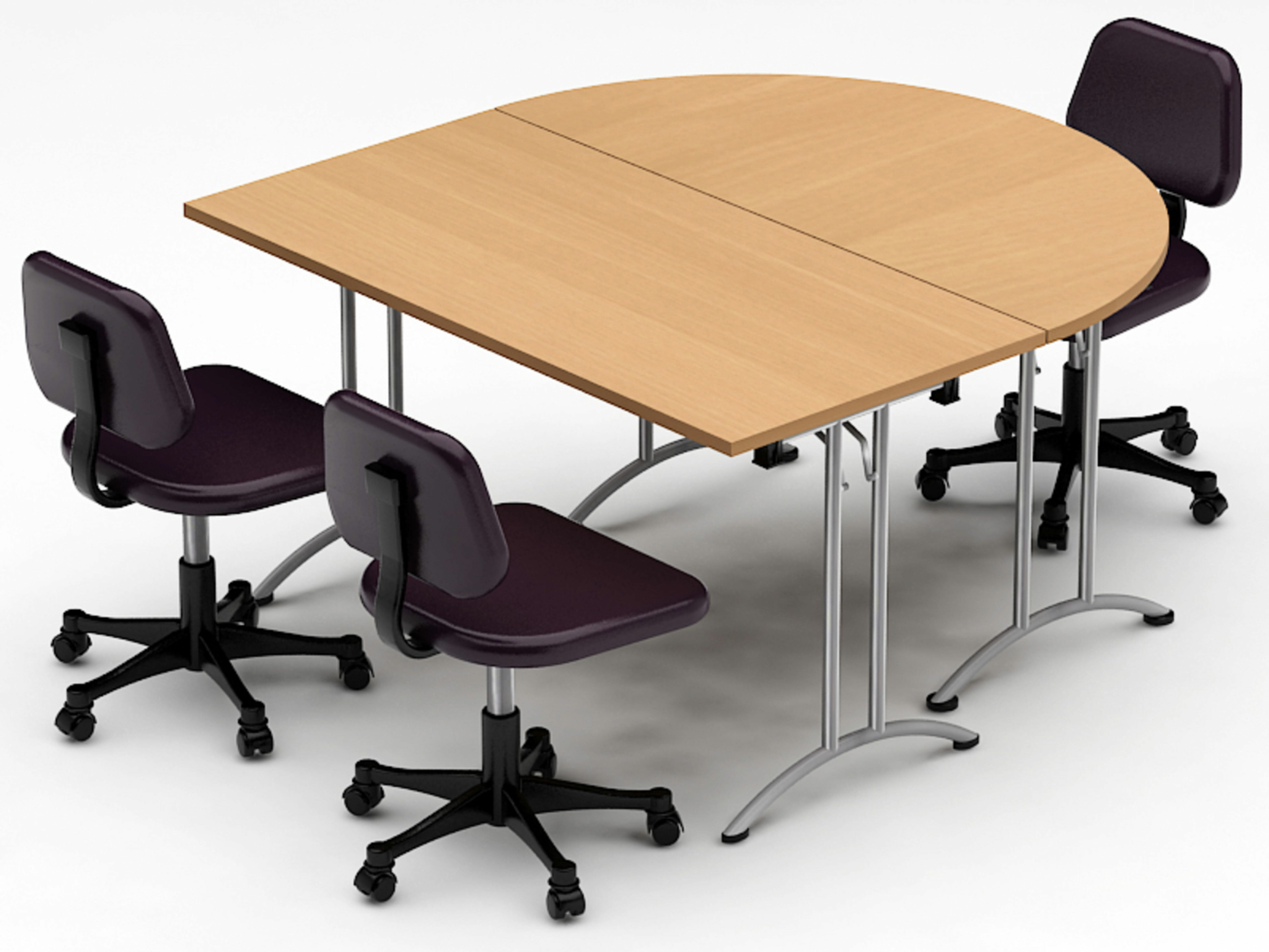 Picture of: Team Tables Meeting Seminar 2 Piece Half Round Meeting Table Wayfair