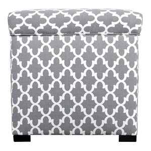 Three Posts Deveau Square Storage Ottoman