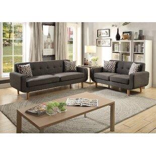 George Oliver Waltman 2 Piece Living Room Set