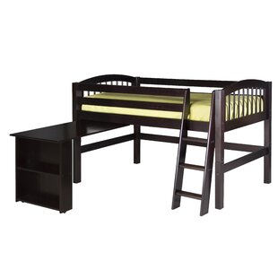 Oakwood Twin Low Loft Bed by Harriet Bee Modern