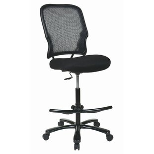 Pascarella High-Back Mesh Drafting Chair by Symple Stuff