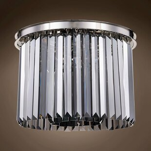 Gettys Crystal 6-Light Flush Mount by Everly Quinn