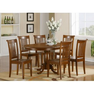 East West Furniture Portland 7 Piece Extendable Dining Set