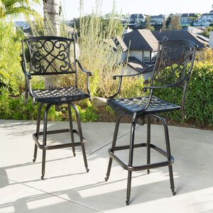 Molino 48.2″ Patio Bar Stool (Set of 2)